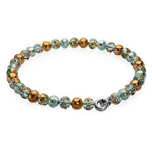 Murano Glass Collier Necklace with Copper, Pastel