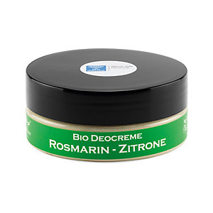 Organic Deodorant Cream, Rosemary-Lemon