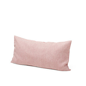 Pillow Case Made of Linen Red-White 40 × 78 cm
