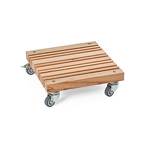 Plant Caddy with Wooden Slats
