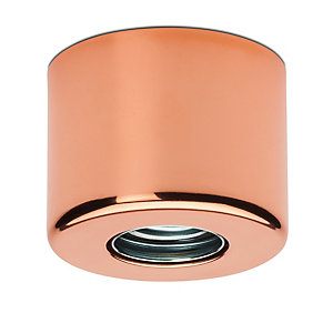 Pot-Shaped Wall and Ceiling Lamp Copper-plated