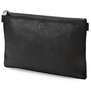 Red-tanned Leather Banker's Briefcase, Black