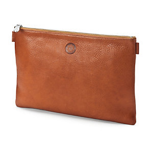 Red-tanned Leather Banker's Briefcase Nature