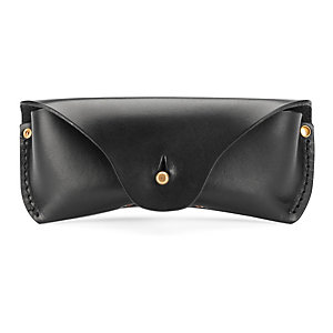 Saddle leather glasses case