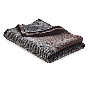 Sauna Towel with Block Stripes Anthracite-Brown