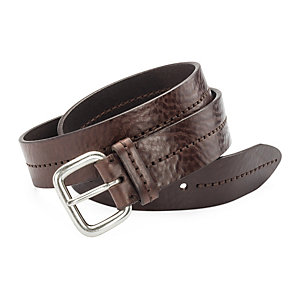 Schröder Double Stitched Belt Dark brown