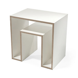 Side Table Echo, White