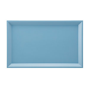 Side Table Modular Tray Rectangle Large Blue