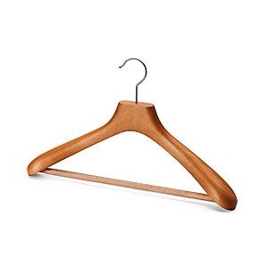 Solid Contoured Coat Hanger for Women With Pants Bar