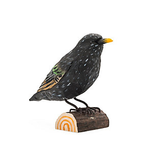 Starling Hand-Carved from Lime Wood
