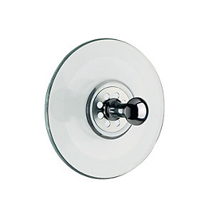 Suction Cup with Chromed Brass Button
