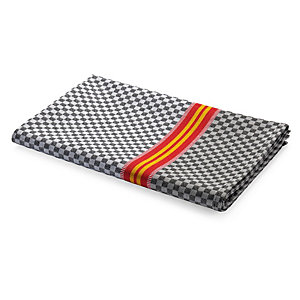 Tea Towel Chequers Black and Grey