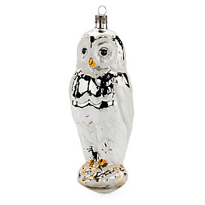 Traditional Lauscha Glass Large Owl