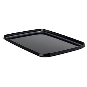 Tray Made of Melamine Resin Large Black