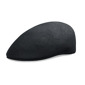 Virgin Wool Felt Car Cap Black