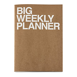 Weekly Schedule with a Saddle Binding, A4
