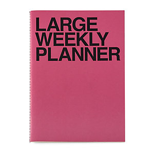 Weekly Schedule with a Saddle Binding, B5