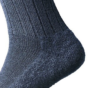 Woolen Socks with Felt Sole, Navy Blue