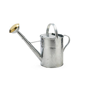 Zinc Coated Watering Can, Round, 9 l