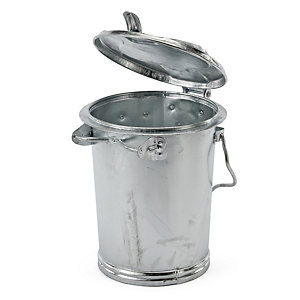 Zinc-Plated Dustbin with Clamping Bracket