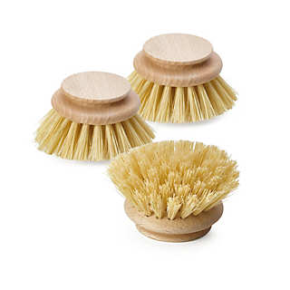 3 Replacement Natural Fiber Scrub Brushes | Household Essentials