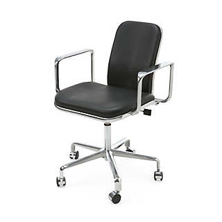 Aluminium and Leather Office Chair | Furniture