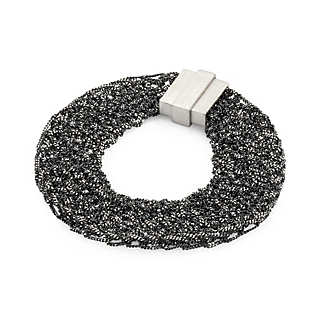 Armband gestricktes Silber | Accessoires