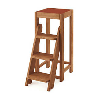 Cherry-Wood Stool-and-Ladder | Tables