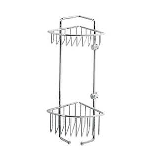 Corner Mounted Brass Shower Rack | Bathroom Accessories
