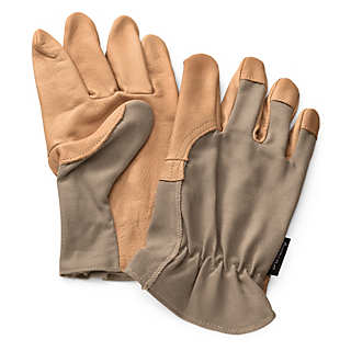 Cotton and Leather Garden Gloves | Gardening Tools