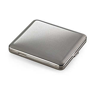 Flat Steel Cigarette Case
