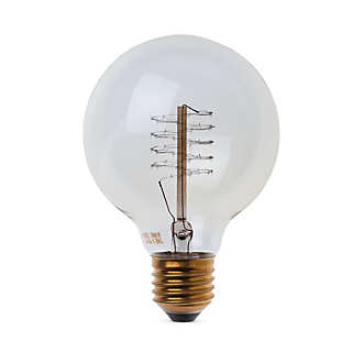 Globe Light Bulb with Spiral Filament | Lighting