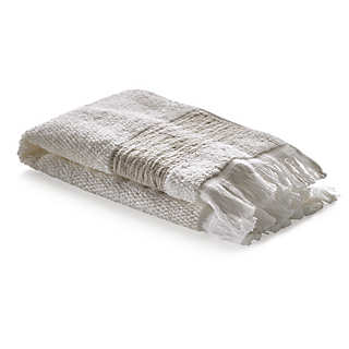 Guest Towel with Linen Border <br />2 Pieces | Towels