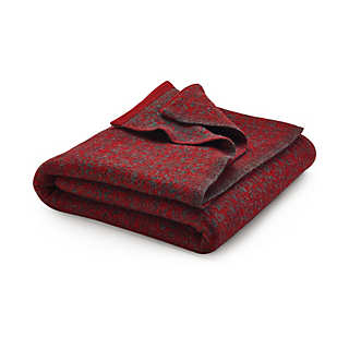 Jacquard Fulled Knit Blanket | Home Textiles