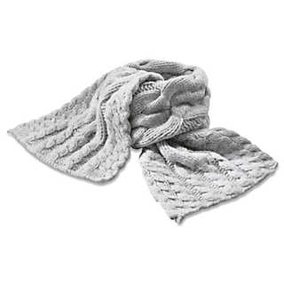 Ladies' Hand-Knitted Lambswool Scarf