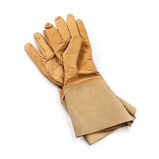 Long-Cuffed Leather Garden Gloves | Gardening Tools