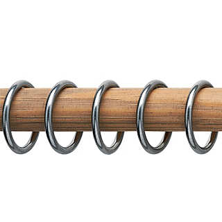 Nickel Plated Brass Curtain Rod Rings | Home Textiles