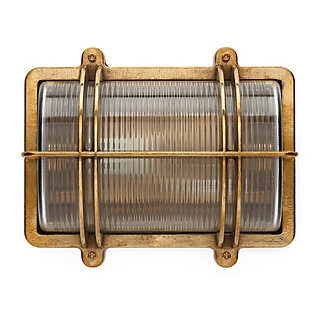 Rectangular Brass Wall and Ceiling Lamp | Lighting