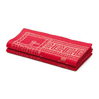 Red Swedish Table Napkin (2 pieces)