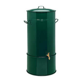 Steel Rain Barrel with Hose Connector | Irrigation