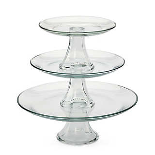 Tiered pressed glass