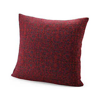 Tumbled Knit Red Jacquard Pillow Cases | Home Textiles