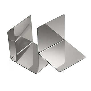 Two Stainless Steel Bookends