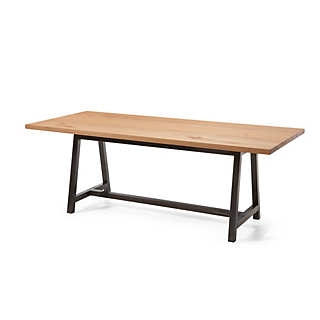 Work table, Beech Heartwood and Steel | Tables