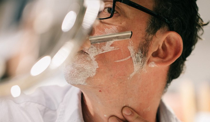 Shaving with a Straight Razor