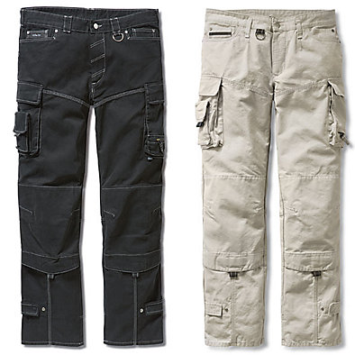 Cotton Canvas Pleated Work Trousers