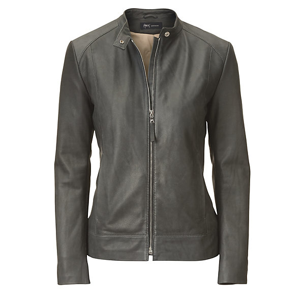 Hack Women's Grey Cattle Leather Jacket_01