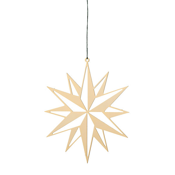 Gold-Plated Brass Large Flat Shining Star_01