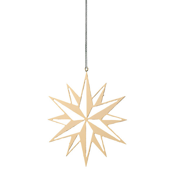 Gold-Plated Brass Mid-Sized Flat Shining Star_01