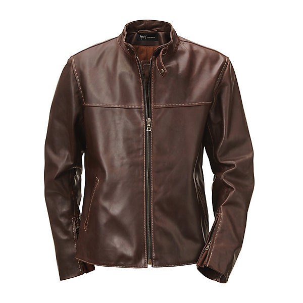 Hack Pull-Up Leather Jacket with Stand-Up Collar_01